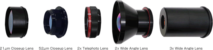 Extensive optional lens lineup for various measuring scene