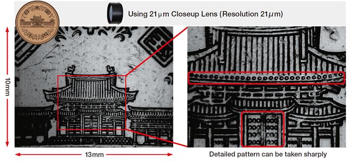 21μm Closeup Lens makes it possible to measure very small object